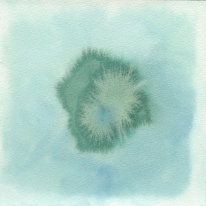 Madeira Series, 3 of 17, 2012, watercolour on paper, 20x20 cm