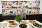 Syrian chef, Isam Moussa Agha presents a Syrian feast at the exhibition launch party.