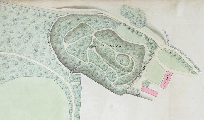 Walmer Castle glen map